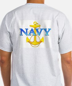 USS New Jersey BB 62 Ash Grey T-Shirt