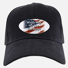 Which Way to The Tea Party? v3 Baseball Hat