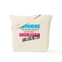 Swimmers v Cheer Leaders Tote Bag