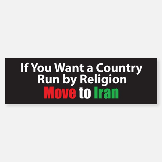 Move to Iran Bumper Bumper Bumper Sticker