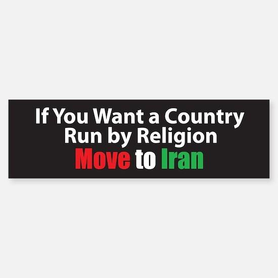 Move to Iran Bumper Car Car Sticker