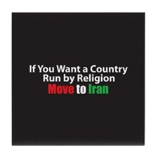 Move to Iran Tile Coaster