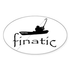 paddle fishing finatic Decal