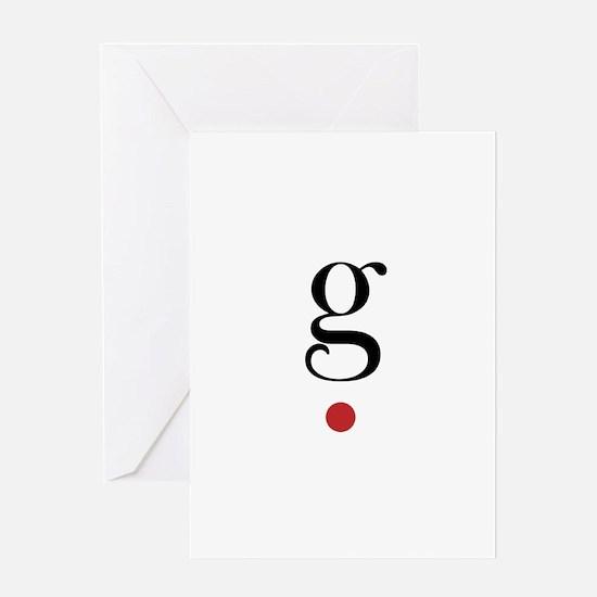 g spot Greeting Card