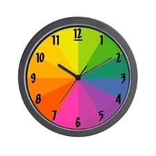 'Color Wheel' Wall Clock