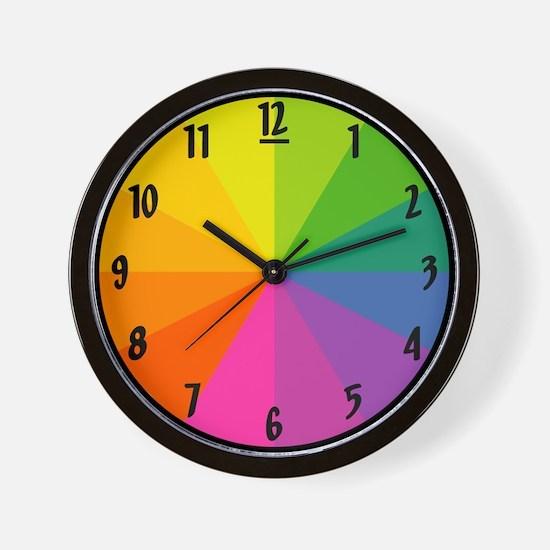 'Color Wheel' Wall Clock