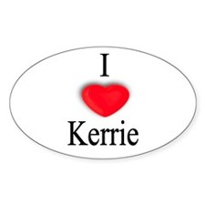 Kerrie Oval Decal
