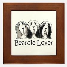 Beardie Lover Framed Tile