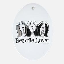 Beardie Lover Ornament (Oval)