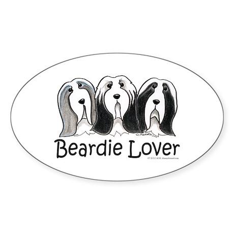 Beardie Lover Sticker (Oval)