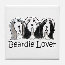 Beardie Lover Tile Coaster