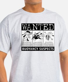 Buoyancy Suspects Scuba Ash Grey T-Shirt