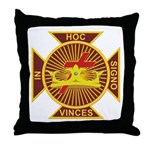 Masonic York Rite (Knights Templar) Throw Pillow