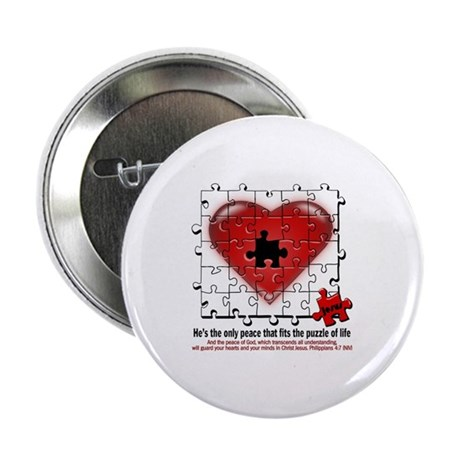 """heart of peace 2.25"""" Button"""