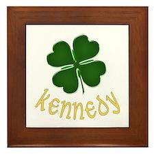 Irish Kennedy Framed Tile