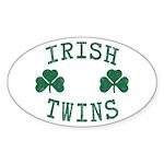 Irish Twins Sticker (Oval)
