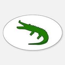 Alligator Sticker (Oval)