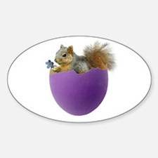 Squirrel in Purple Eggshell Decal