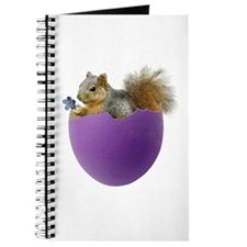 Squirrel in Purple Eggshell Journal