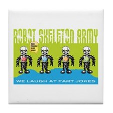 Robot Skeleton Army Tile Coaster