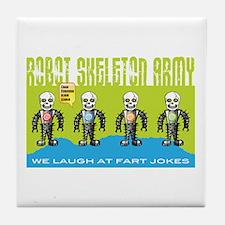Robot Skeleton Army Tile Coaster