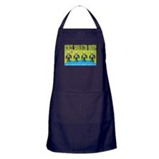 Robot Skeleton Army Apron (dark)