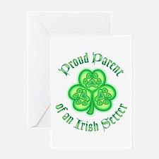 Proud Parent of an Irish Setter Greeting Card