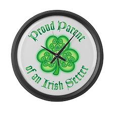 Proud Parent of an Irish Setter Large Wall Clock