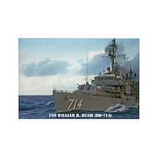 USS WILLIAM R. RUSH Rectangle Magnet