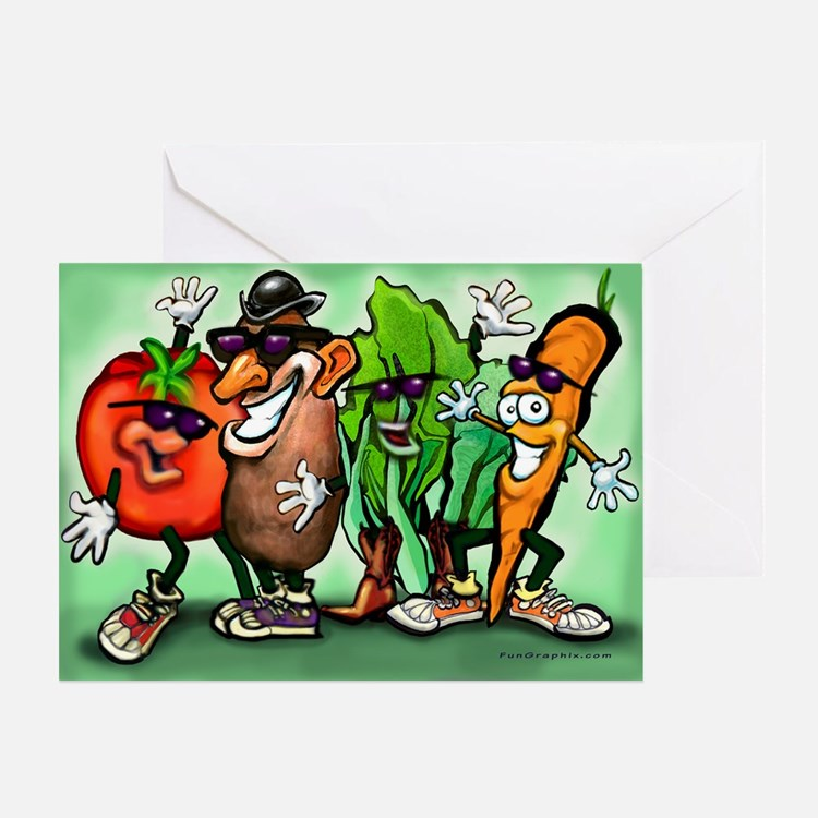 Cute Funny tomato Greeting Card