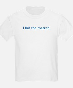 I Hid The Matzah Kids T-Shirt