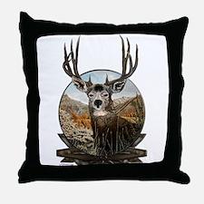 Mule deer Painting Throw Pillow
