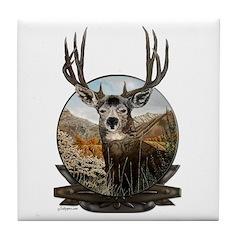 Mule deer Painting Tile Coaster