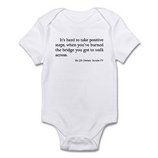 J. D. Burned Bridges Quote Infant Bodysuit