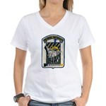 USS WILLIAM R. RUSH Women's V-Neck T-Shirt