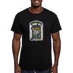 USS WILLIAM R. RUSH Men's Fitted T-Shirt (dark)
