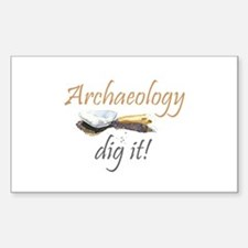 Archaeology, Dig It! Rectangle Decal