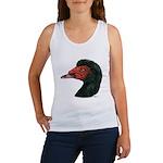 Muscovy Duck Head Black Women's Tank Top