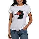 Muscovy Duck Head Black Women's T-Shirt