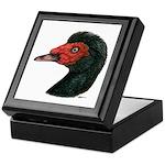 Muscovy Duck Head Black Keepsake Box