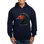 Muscovy Duck Head Black Hoodie (dark)
