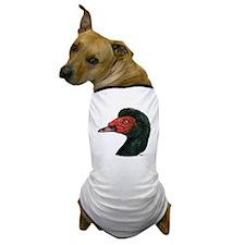 Muscovy Duck Head Black Dog T-Shirt