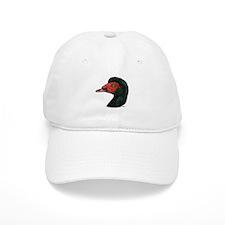 Muscovy Duck Head Black Baseball Cap
