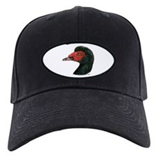 Muscovy Duck Head Black Baseball Hat