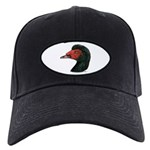 Muscovy Duck Head Black Black Cap