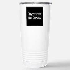 Wolves for Obama Travel Mug