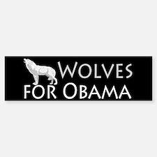 Wolves for Obama Bumper Bumper Sticker
