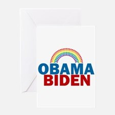 Obama Rainbow Greeting Card