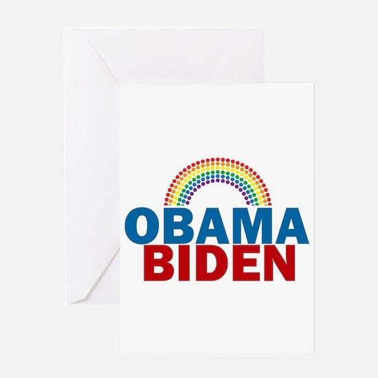 Obama Rainbow Greeting Card