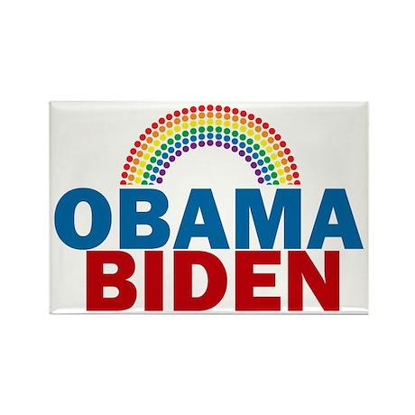 Obama Rainbow Rectangle Magnet